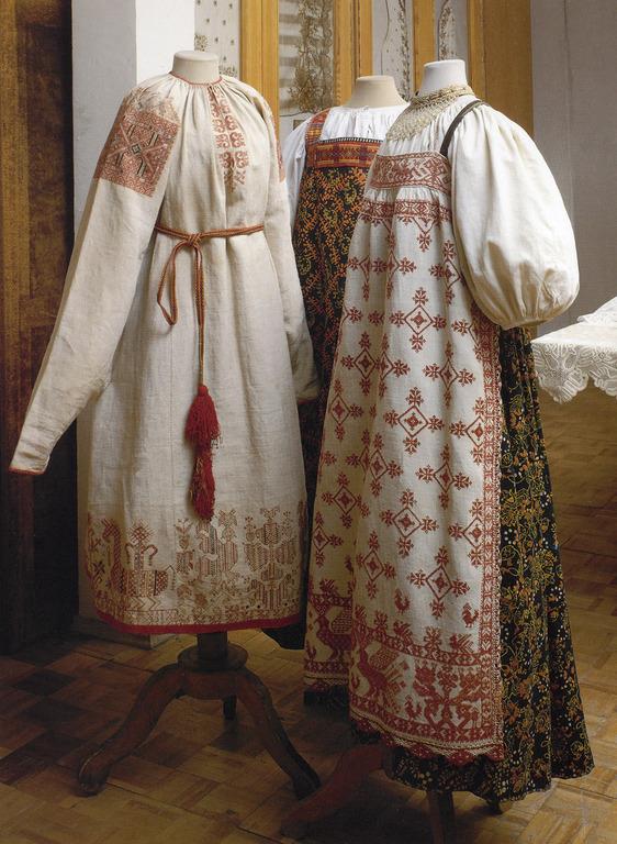 Вышивка крестом сарафан